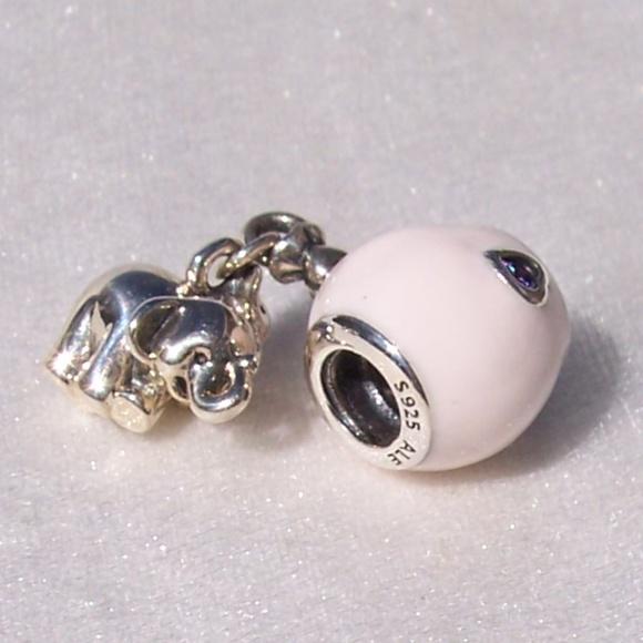 Pandora Elephant Pink Balloon Bracelet Charm